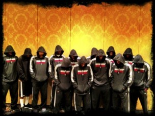 Miami Heat team wearing hoodies in honor of Trayvon Martin.