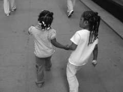 "Photo Credit: ""Little girls walking in the street"" Koalie, 2004"